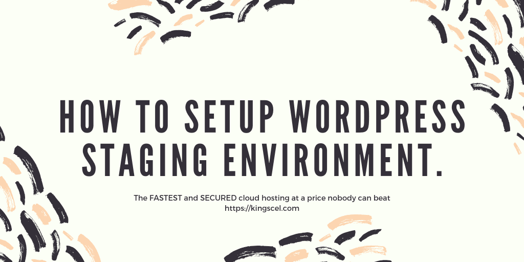 How to setup wordpress staging environment